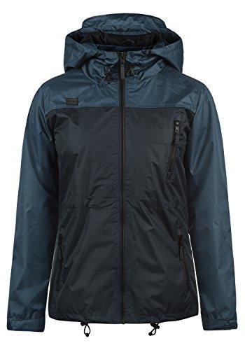 BlendShe Briddi Damen Windbreaker Übergangsjacke Regenjacke Mit Kapuze Und Color-Block-Optik, Größe:XL, Farbe:Mood Indigo (20064) Zip Front Ski-jacke