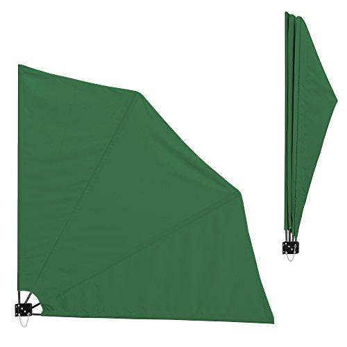[casa.pro]®] Balkon - Fächermarkise (grün)(160 x 160 cm) Sichtschutz/Seitenmarkise klappbar/Balkonumspannung / Wandklappschirm
