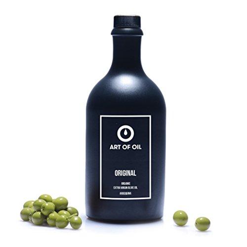 Olivenöl Bio von ART OF OIL ORIGINAL | 500ml BIO Olivenöl Nativ Extra aus Spanien | Fruchtig mildes Olivenöl in Designer Olivenöl Flasche