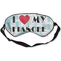 I LOVE MY FIANCEE 99% Eyeshade Blinders Sleeping Eye Patch Eye Mask Blindfold For Travel Insomnia Meditation preisvergleich bei billige-tabletten.eu