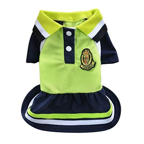 Kostüm Cat Annahme - AMURAO Sommer Haustier Hund Shirt und Kleid Liebhaber Puppy Kleidung für kleine Hunde Uniform Cute Outfit Cats Tops