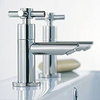 Alfred Victoria Modern Basin Brass Taps I02 - Chrome Finish
