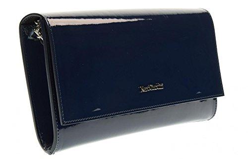 NERO GIARDINI femme avec le sac d'embrayage P743408D bandoulière en métal / 208 Blu