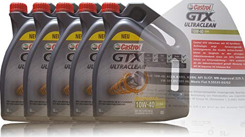 Castrol GTX Ultraclean 10W-40 A3/B4 5x5 Liter