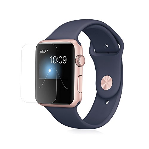 Solo Pelle Screen Protector Tempered Glass Hartglas Schutzfolie für Apple Watch 42mm Display Schutzglas Glasfolie