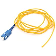 DealMux 1,5M 5FT cable de puente Simplex Monomodo SC Cable de fibra óptica flexible de conexión