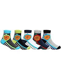 Supersox Kid's Pack of 5 Regular Combed Cotton Terry Socks Combo-3