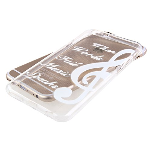 iPhone 6S Hülle,iPhone 6 Hülle [Scratch-Resistant],iPhone 6S 6 Hülle 4.7, ISAKEN iPhone 6S iPhone 6 4.7 Ultra Slim Perfect Fit Christmas Weihnachtstag Geschenk Muster Malerei TPU Clear Transparent Pro Hinweis Symbol