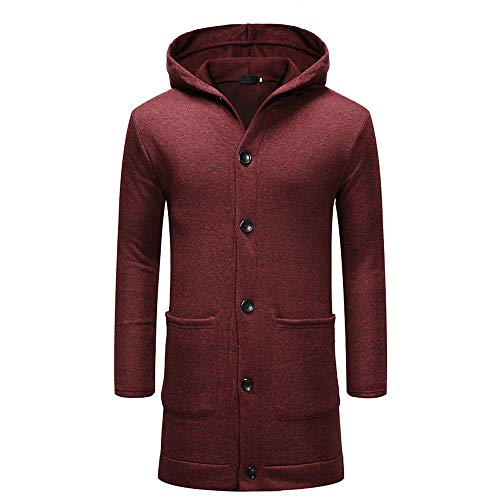 ammfell Mantel Winter Slim Fit Mit Kapuze Knopf Pullover Mode Feste Lange Trenchcoat Jacke ()