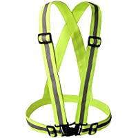 AoToZan Reflective Vest Elastic and Adjustable Running Gear Safety Vest for Running, Walking, Jogging, Cycling, Motorcycle