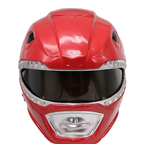 Cosplay Kostüm Helm Mighty Classic Rot Maske Verrückte Kleidung Replik für Erwachsene Party Zubehör - Red Dino Power Ranger Kostüm