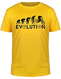 FabTee Evolution Downhill Bike - Men T-Shirt - Size S-3XL