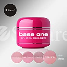 Base One Cover 15g UV Gel Nails Camouflage Nude Builder File Off Gel Silcare