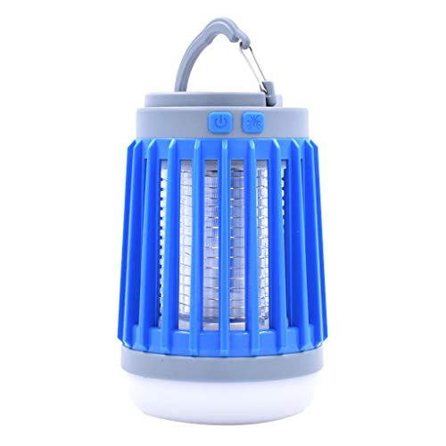 Louyihon-Multifunktionale Zapper Led Birne Moskito Fly Killer Laterne Camping Laterne Licht Moskito Licht (Blau) (Akku-deckenleuchte)