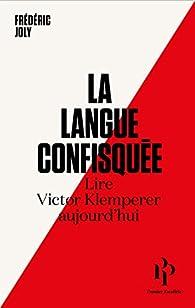 La langue confisquée par Frédéric Joly