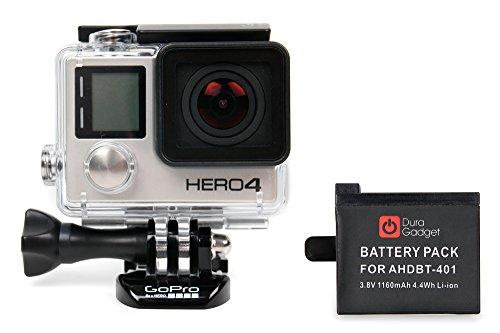 DURAGADGET Batería 1050mAH Compatible Para GoPro Hero4 HD Adventure Black / Silver Edition