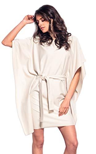 Lemoniade Elegantes Partykleid in ausgefallenem Design und in vielen Farben Made in EU, Modell 2 Beige, Gr. L (40) One-shoulder-kleid