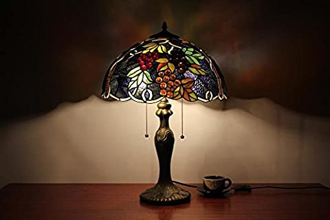 Lampe Tiffany - TOYM UK-16 pouces raisin pourpre lampe