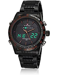 Neotrix Luxury NAVIFORCE Stainless Steel Men s Dual Time LED Waterproof  Military Watch Extreme Sports 30M Water 4613ca4351