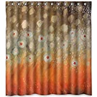 Setyserytu Shower Curtain with Hooks Fly Fishing Theme Print 100% Polyester Bathroom Funny Decor Shower Curtain 60x72 inch