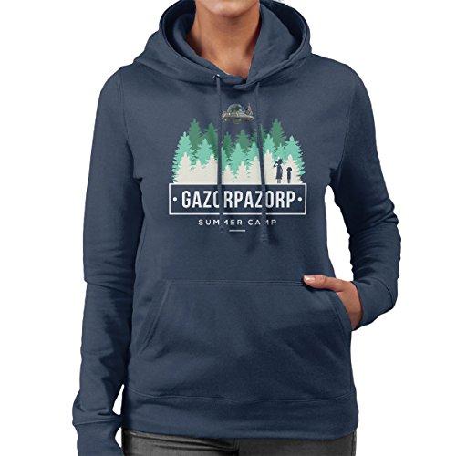 Rick And Morty Gazorpazorp Summer Camp Women's Hooded Sweatshirt Navy blue
