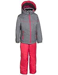 Phenix niña Bergen Two Traje de esquí, Gris-Rosa