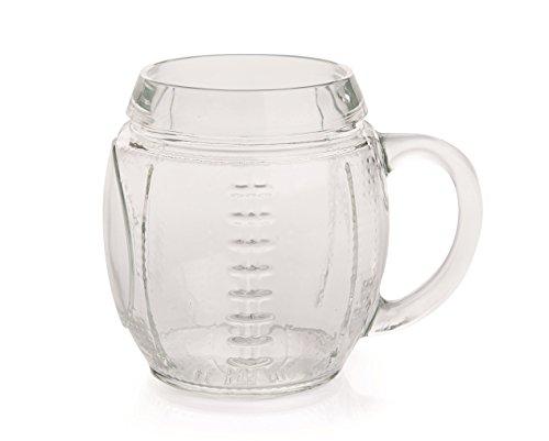 Excelsa Tasses bière Tasse Sport Rugby CL 65, Verre, Transparent, 11 x 14 x 12 cm