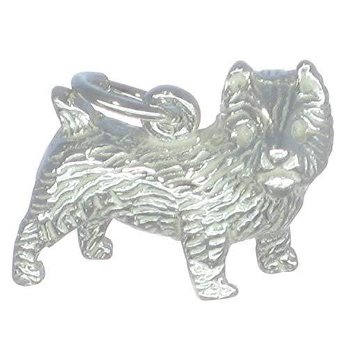 Cairn Terrier Hund Sterling Silber Anhänger .925 x 1 Terrier Hund Charme bj2055 -