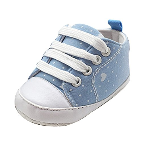 Zhuhaitf Ausgezeichnet Baby Girls Boys Canvas Soft Sole Sneaker Newborn Toddler Comfortable Shoes Blue