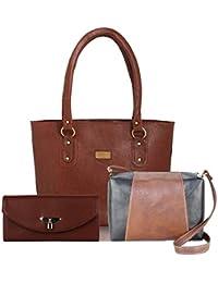 Fargo Universal PU Leather Women's Handbag With Sling Bag And Hand Clutch Combo Of 3(FGO-189)