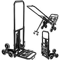 DlandHome Carretillas de Mano Sistema de Transporte de Escaleras Multiusos Carrito plegable Ajustable y ligero con mango telescópico de aluminio Carga máx. 150kg
