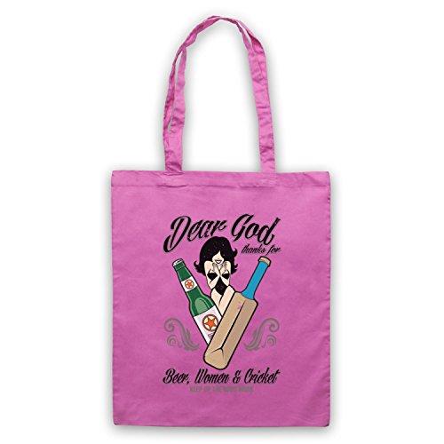 Dear God Thanks For Beer Women And Cricket borsa custodia Rosa