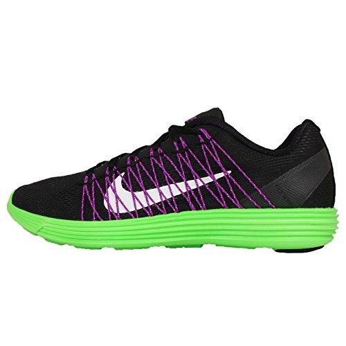 Nike Lunaracer+ 3, Chaussures de Running Entrainement Homme, Multicolore, Media Multicolore (Negro / Blanco / Verde / Morado (Black / White-Grn Strk-Vvd Prpl))
