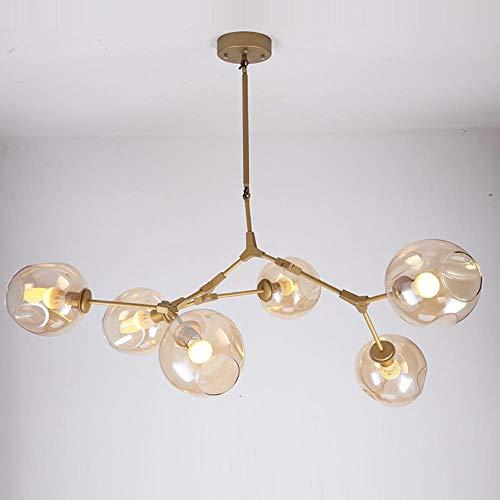 Charakteristisch Lindsey Adelman Eisen Pendant Leuchte Industrietechnik Glaspendelleuchte Schlafzimmer Restaurant Licht E27, Schwarz, 7 Köpfe, Gradient Gray # 2103