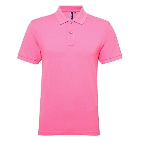 Asquith Fox Herren Poloshirt Neon Pink