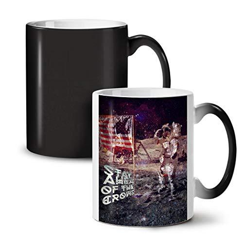 Wellcoda Apollo Galaxis Farbwechselbecher, Galaxis Tasse - Großer, Easy-Grip-Griff, Wärmeaktiviert, Ideal für Kaffee- und Teetrinker