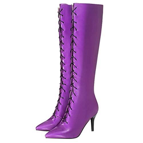 ZODOF Zapatos de mujer Botines Zapatos de mujer tacones altos...