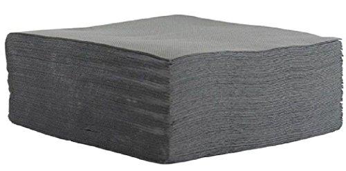 Fetez moi - 40 serviettes grises 2 plis en ouate de cellulose - 38 x 38 cm