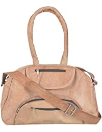 2dots Handmade Genuine Leather 30 Cms Brown Gym Bag Travel Duffel Bag - B06XXG3LGB