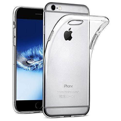 wsiiroon Hülle kompatibel mit iPhone 6 6S, Transparent Handyhülle kompatibel mit iPhone 6 6S Clear Soft Silikon Case Durchsichtig Klar TPU Schutzhülle [4,7 Zoll] - 6 Case Soft Iphone