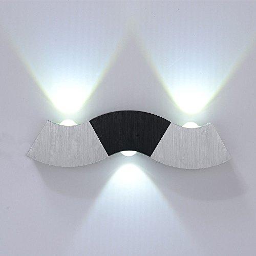 Design-wand-lampe (LED Wandlampe Wandleuchte Wand Flur Design Lampe Up und Down Warmweiss CE 3W (weiß))