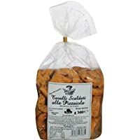 """Taralli tradicional de Apulia a la """"Pizzaiola"""" Producto horneado ideal como snack salado Producto artesanal típico de Apulia"""
