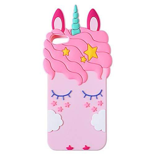 Mulafnxal Schutzhülle für iPod Touch 5 6 5. 6. 3D weiches Silikon, süßes Cartoon-Tier-Motiv, Kawaii-Charakter Mädchen Kinder, Cool Schutz-Schutz, stoßfeste Gummihülle für iPod 6 5