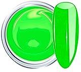 HOLLYWOOD NAILS Colour UV-Gel, Neon Grün, 866 Poison 5 g, UV-Licht härtende, hochdeckende Farbgele für farbige Gelnägel