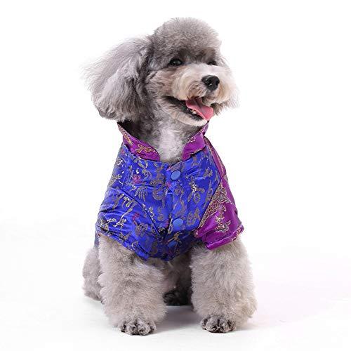 PapiPet Blaue Hunde Tang Anzug für den Winter, -