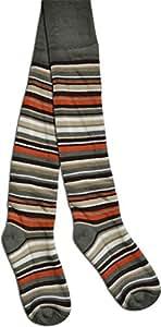 2 Paar Thermo Strumpfhose mit Elasthan für Jungen und Mädchen | Ringellook Farbe Khaki Größe 74/80