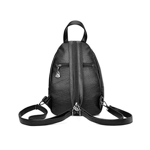 Neue Damen Rucksack Student Bag Korean Casual Einfache Mode Wild Handtaschen,Pink Gray