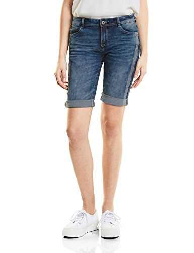 Street One Damen Shorts Jane, blau (authentic heavy wash 11384), 38(Herstellergröße: 30)