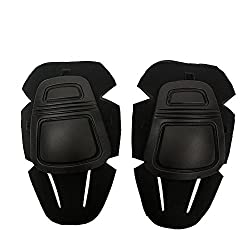 Protective Knee Pads, Airsoft Paintball Knee Protector Hunting Tactical Military Combat Replacement Knee Pads For Gen3g3 Bdu Pants Tan (Black)