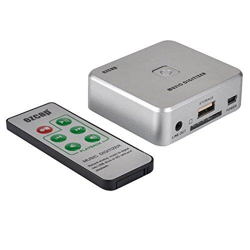 Audio Capture Recorder mit 3,5mm & RCA in Häfen, ferngesteuert Musik Digitizer Audio aufnehmen als MP3-Datei